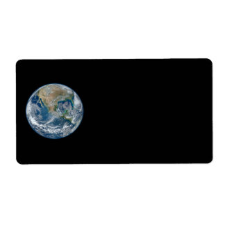 Blue Marble Planet Earth North America Mexico Label