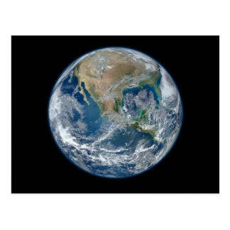 Blue Marble Planet Earth North America Mexico Postcard