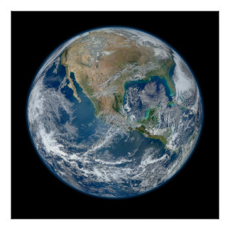 Blue Marble Planet Earth North America Mexico Posters