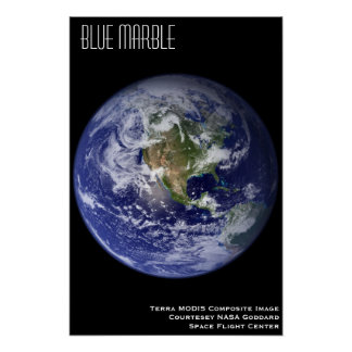 Blue Marble Poster