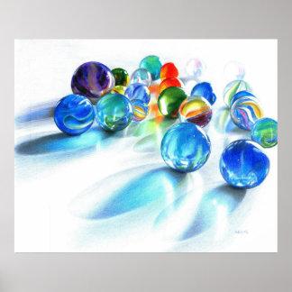Blue Marble Reflection by Carla Kurt Print