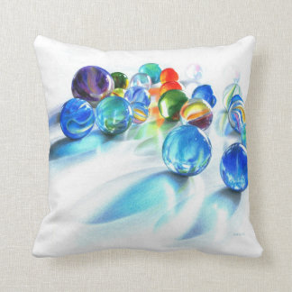 Blue Marble Reflection Pillow