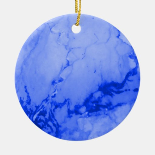 Blue Marble Stone Christmas Ornament