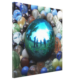 Blue Marble Surreal Reflections Canvas Print