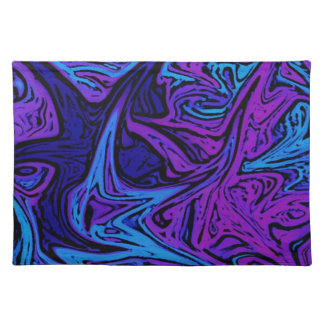 Blue Marble Swirl Placemat