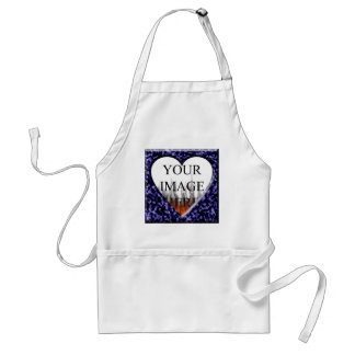 Blue marble template with heart opening adult apron