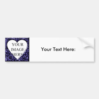 Blue marble template with heart opening bumper sticker