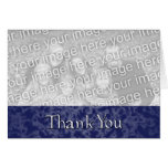Blue Marble Thank You Photo Greeting Greeting Card