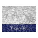 Blue Marble Thank You Photo Postcard