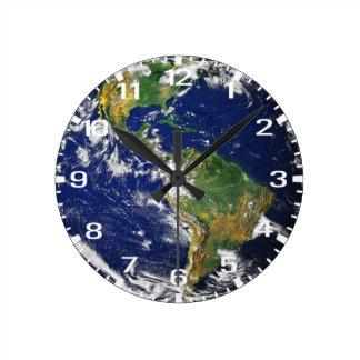 Blue Marble Time Round Wallclocks