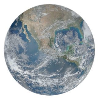 Blue Marble West Plate