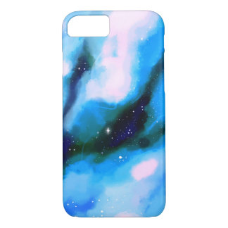 Blue Marbled Outer Space Abstract Background iPhone 7 Case