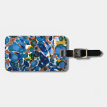 Blue Marbled Paper Bag Tags