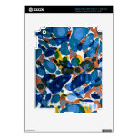 Blue Marbled Paper Decals For iPad 3