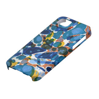 Blue Marbled Paper iPhone SE/5/5s Case