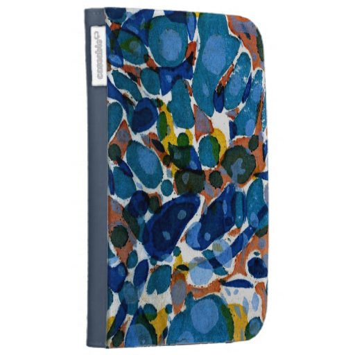 Blue Marbled Paper Kindle 3 Covers