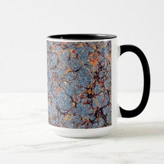 Blue Marbled Paper Pattern Mug