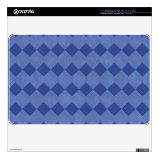 "Blue Marbled Squares 11"" MacBook Air Zazzle Skin Skins For MacBook"