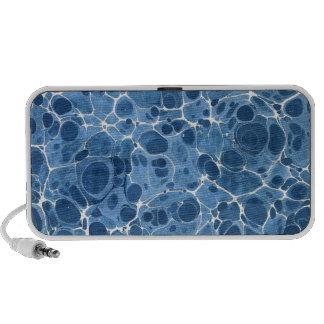 Blue Marbleized iPhone Speaker