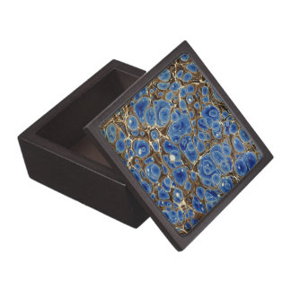 Blue Marbleized Jewelry Box