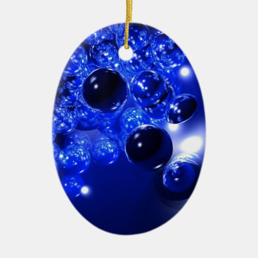 Blue Marbles Christmas Ornaments