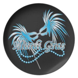 Blue Mardi Gras Mas Plate