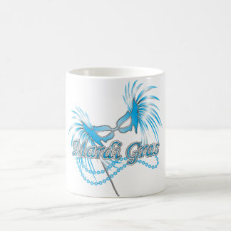 Blue Mardi Gras Mask Coffee Mug