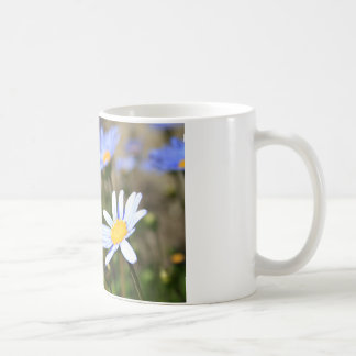 Blue Marguerite Flowers Mug