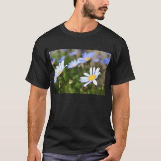 Blue Marguerite Flowers T-Shirt