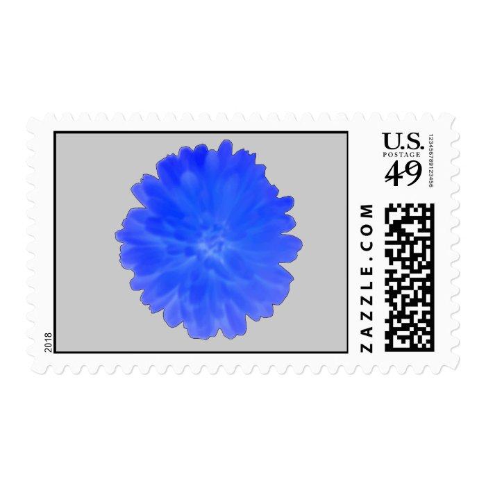 Blue Marigold Postage Stamp