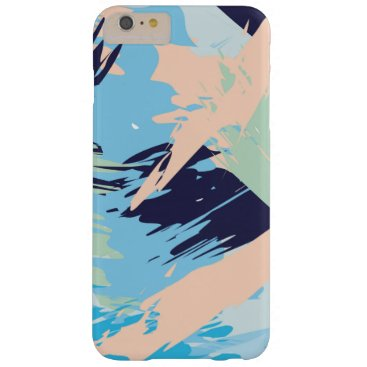 Beach Themed Blue Maritime Nautical Brushstroke Pattern Barely There iPhone 6 Plus Case