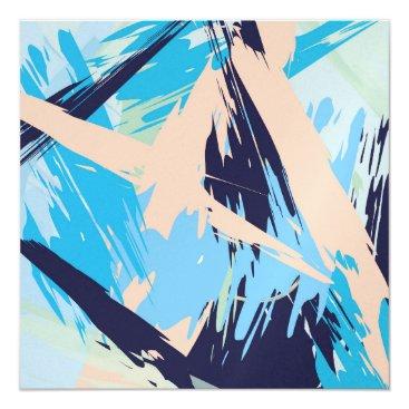 Beach Themed Blue Maritime Nautical Brushstroke Pattern Card
