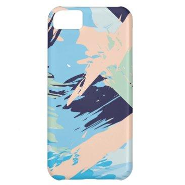 Beach Themed Blue Maritime Nautical Brushstroke Pattern Case For iPhone 5C