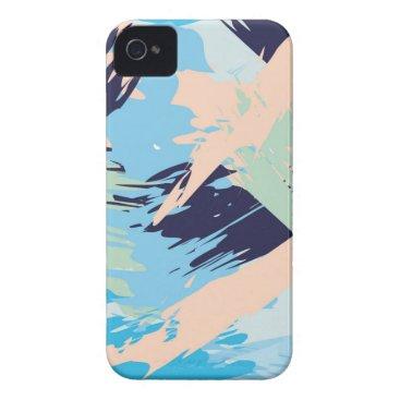 Beach Themed Blue Maritime Nautical Brushstroke Pattern Case-Mate iPhone 4 Case