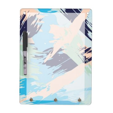 Blue Maritime Nautical Brushstroke Pattern Dry-Erase Board