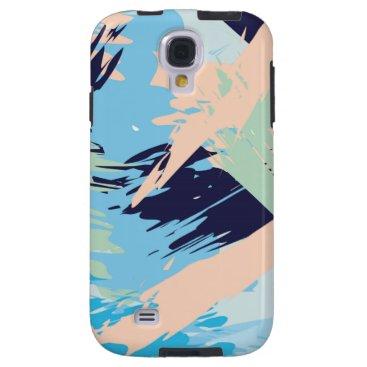Beach Themed Blue Maritime Nautical Brushstroke Pattern Galaxy S4 Case
