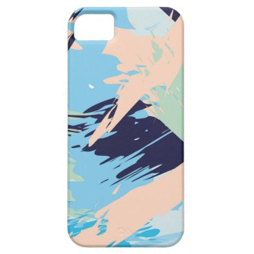 Beach Themed Blue Maritime Nautical Brushstroke Pattern iPhone SE/5/5s Case