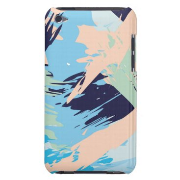 Beach Themed Blue Maritime Nautical Brushstroke Pattern iPod Case-Mate Case