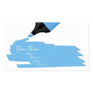 blue marker business cards