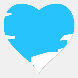 Blue Marker Copy Space Heart Sticker