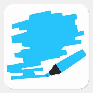 Blue Marker Copy Space Square Sticker