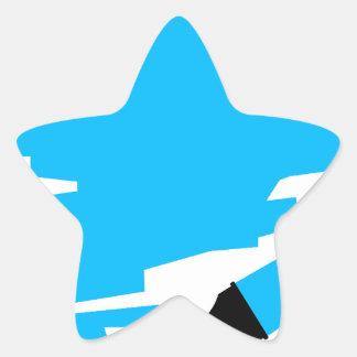 Blue Marker Copy Space Star Sticker