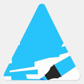 Blue Marker Copy Space Triangle Sticker