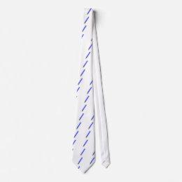 Blue marker tie