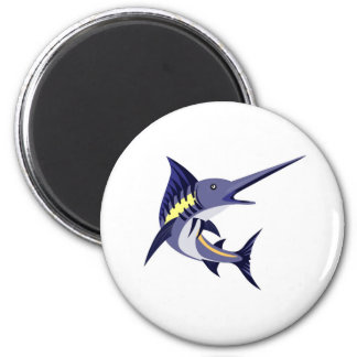 blue marlin art deco style magnets