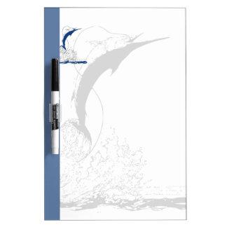 Blue Marlin, Blue Stripe and Shadowed Marlin Dry-Erase Board