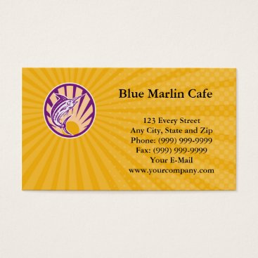 Professional Business Blue Marlin Cafe Business card
