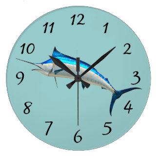 Blue Marlin Wall Clock
