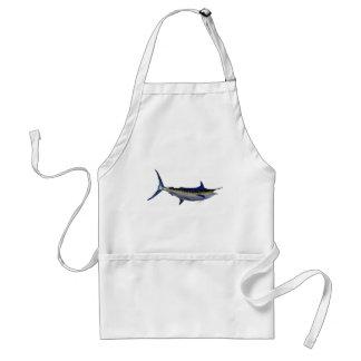 Blue Marlin Fish Adult Apron