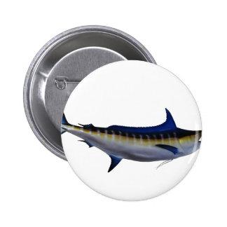 Blue Marlin Fish Button